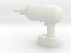 Brick-compatible cordless drill in White Natural Versatile Plastic
