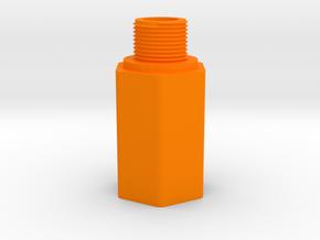 HK 3 Lug to 14mm- Barrel Adapter for MP5K AirGun in Orange Processed Versatile Plastic
