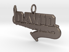 Saxophone Band Pendant in Polished Bronzed-Silver Steel