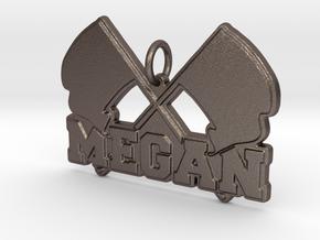 Flagline Pendant in Polished Bronzed-Silver Steel