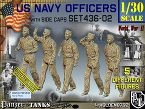1/30 USN Officers Set436-02 in White Natural Versatile Plastic