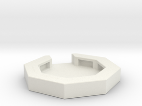 flak emplacement scale 1/285 in White Natural Versatile Plastic