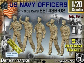 1/20 USN Officers Set436-02 in White Natural Versatile Plastic