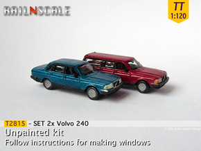 SET 2x Volvo 240 (TT 1:120) in Smooth Fine Detail Plastic