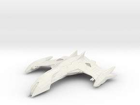 Romulan Eagle Class WarBird in White Natural Versatile Plastic