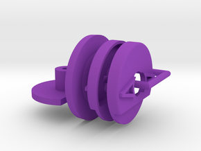 Rear Aero Shields with install tool and shield for in Purple Processed Versatile Plastic