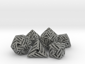 Helix Dice Set with Decader in Gray PA12