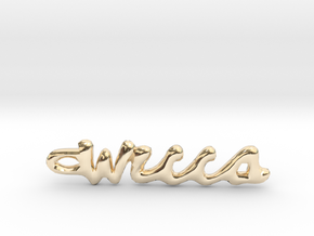 "Vertical ""Wicca"" Word Pendant in 14K Yellow Gold"
