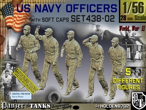 1/56 USN Officers Set438-02 in Smooth Fine Detail Plastic