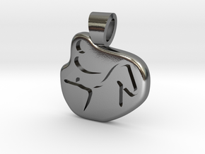 Equestrian in Polished Silver