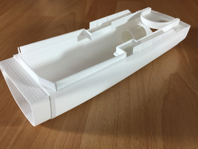 Thetis / Najade, Hull 2 of 3 (RC, 1:100) in White Natural Versatile Plastic