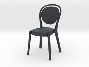 Miniature Parisienne Chair - Capellini in Black PA12: 1:12