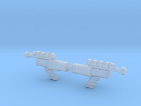 Lobros Laser Pistol in Smooth Fine Detail Plastic