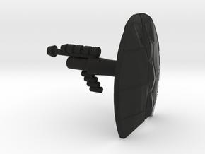 Lobros Laser Pistol and Shellback Shield in Black Natural Versatile Plastic