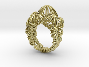 Sea ​​Urchin Ring in 18k Gold Plated Brass: 6.25 / 52.125