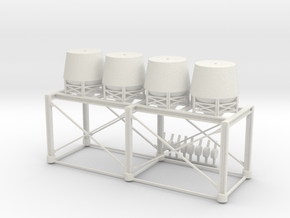 'HO Scale' - Loadout Bins in White Natural Versatile Plastic