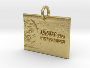 Unify For World Peace in Natural Brass: d3