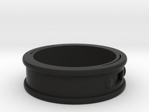 NFC Band size 14.5 US (74 mm circumference) in Black Premium Versatile Plastic