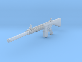 1/12th K11 with suppressor in Smooth Fine Detail Plastic