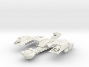 Klingon KaBar Class BattleCruiser refit in White Natural Versatile Plastic