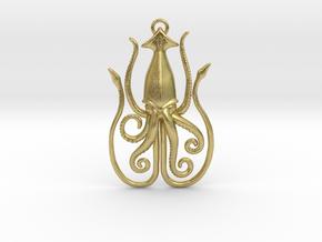 Kraken in Natural Brass