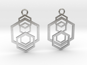 Geometrical earrings no.5 in Natural Silver: Small