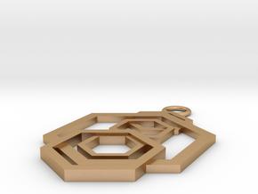 Geometrical pendant no.5 in Natural Bronze: Small