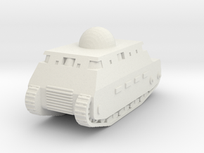 Fiat 2000 Italian WW1 Tank - 1/285 (Qty. 1) in White Natural Versatile Plastic