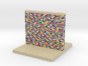 mini display base color wall with sidewalk medium in Full Color Sandstone