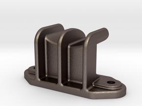 "Camel Co Side Door Guide (Modern) - 2.5"" scale in Polished Bronzed-Silver Steel"