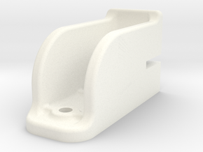 "Camel Co Door Track Support - 2.5"" scale in White Processed Versatile Plastic"