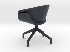 Miniature B&B Sina Chair - B&B Italia in Black Professional Plastic: 1:12