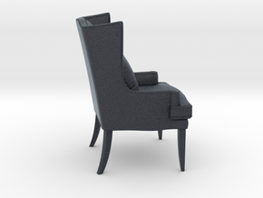 Miniature Wing Chair - Sam Moore  in Black PA12: 1:12