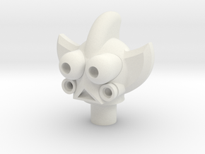 Dart Head in White Natural Versatile Plastic