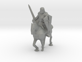 HO Scale Knight on Horse in Gray Professional Plastic
