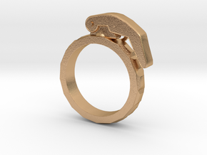 The Gringade - Grenade Ring (Size 7) in Natural Bronze: 7 / 54