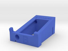 """B"" Camera Preston Single Channel Handset Cradle in Blue Processed Versatile Plastic"