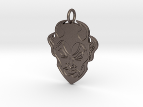 Creator Pendant in Polished Bronzed-Silver Steel