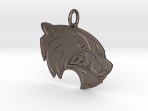 Wolverine Pendant in Polished Bronzed-Silver Steel