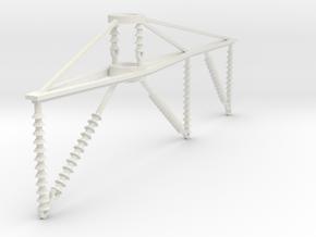 PRR 3 phase bracket in White Natural Versatile Plastic