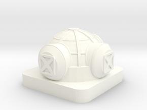 Mini Space Program, Base Habitat, 3 Hatches in White Processed Versatile Plastic