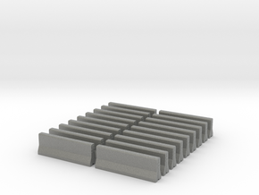 H0 / HO Scale - Barrier - Concrete / Jersey Type - in Gray PA12