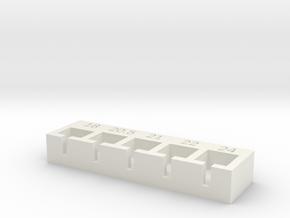 Jig for setting buffer length in White Natural Versatile Plastic