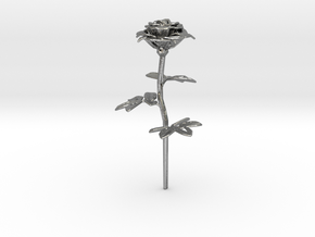 Rose in Natural Silver