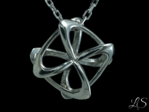 Tornado Pendant in Polished Silver: Small
