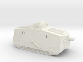 A7V Tank (Germany) in White Natural Versatile Plastic