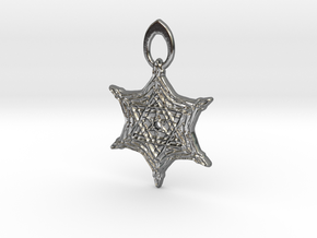 The Ancient Shield  in Polished Silver