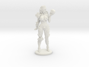 Dark Queen TOP DESIGN VARIANT Mini - 40mm in White Natural Versatile Plastic