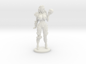 Dark Queen BUSTY VARIANT Mini - 40mm in White Natural Versatile Plastic