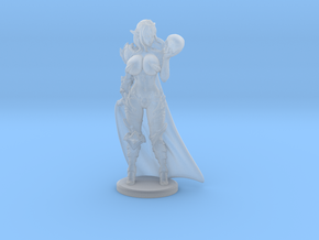 Dark Queen BUSTY VARIANT w Cape Mini - 40mm in Smooth Fine Detail Plastic